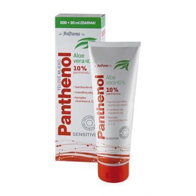 Zobrazit detail výrobku MedPharma Panthenol 10 % Sensitive tělové mléko s aloe vera 230 ml