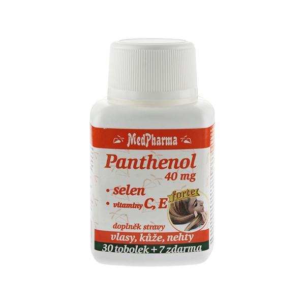Zobrazit detail výrobku MedPharma Panthenol 40 mg Forte + selen + vitamín C, E 30 tob. + 7 tob. ZDARMA