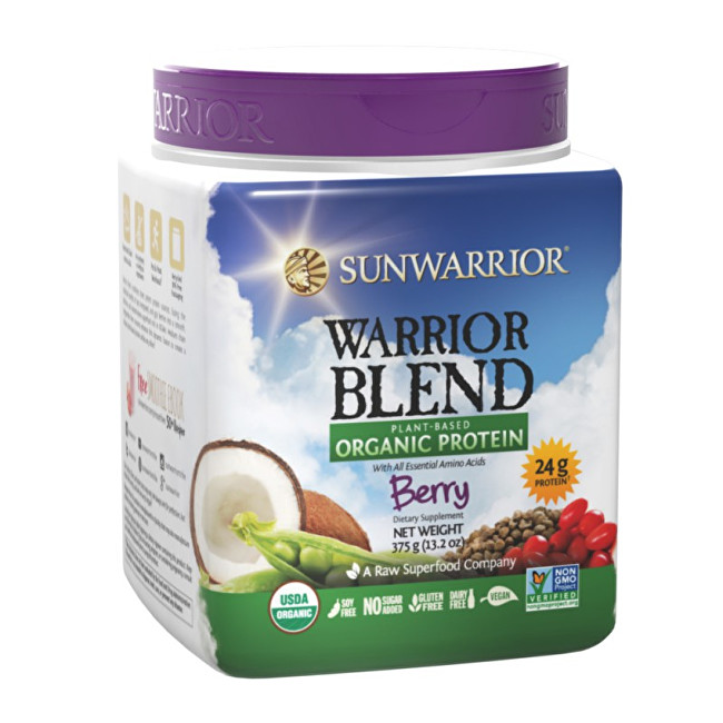 Sunwarrior Protein Blend BIO lesní plody 375 g