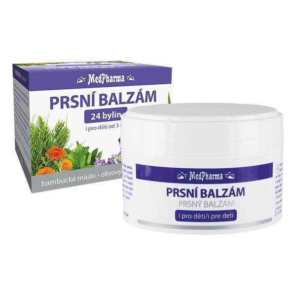 MedPharma Prsní balzám 24 druhů bylin 80 ml