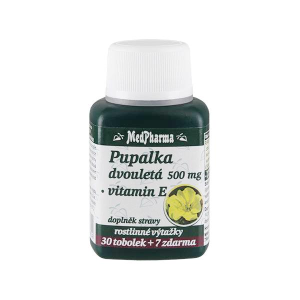 Zobrazit detail výrobku MedPharma Pupalka dvouletá 500 mg + vitamín E 30 tob. + 7 tob. ZDARMA