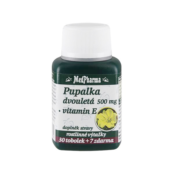 Zobrazit detail výrobku MedPharma Pupalka dvouletá 500 mg + vitamín E 37 tablet