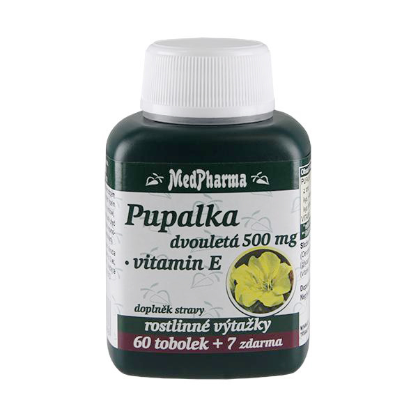 Pupalka dvouletá 500 mg + vitamín E 60 tob. + 7 tob. ZDARMA