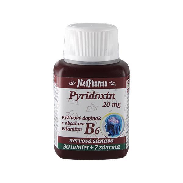 Zobrazit detail výrobku MedPharma Pyridoxin 20 mg – doplněk stravy s obsahem vitamínu B6 30 tbl. + 7 tbl. ZDARMA