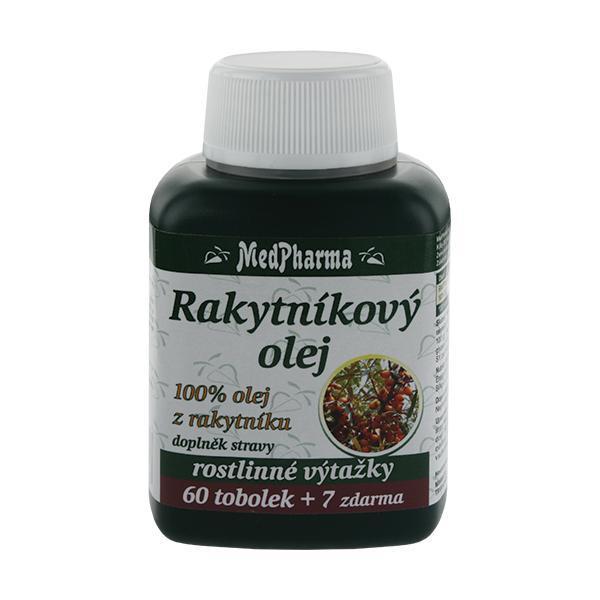 Zobrazit detail výrobku MedPharma Rakytníkový olej – 100% olej z rakytníku 60 tob. + 7 tob. ZDARMA
