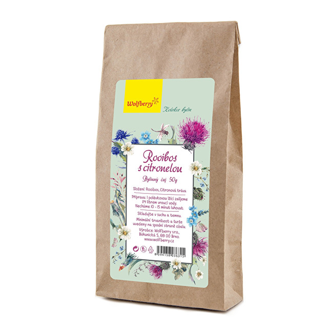 Zobrazit detail výrobku Wolfberry Rooibos s citronelou bylinný čaj 50g