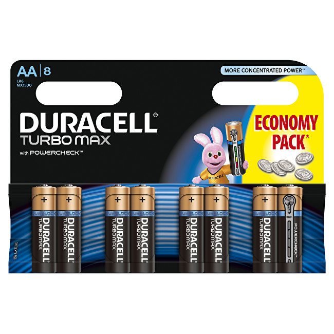Zobrazit detail výrobku Duracell Baterie Turbo MAX AA 1500 K8 Duralock