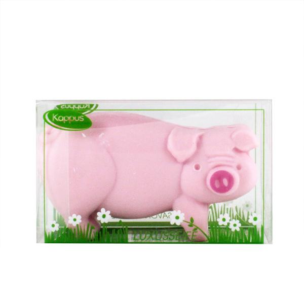 Kappus Tvarované mýdlo Prasátko růžové 100 g