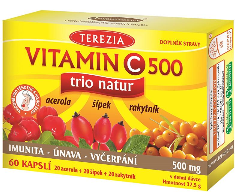 Terezia Company Vitamin C TRIO NATUR 500 mg 60 kapslí - SLEVA - POŠKOZENÁ KRABIČKA