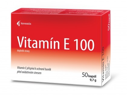 Noventis Vitamín E 100 50 kapslí