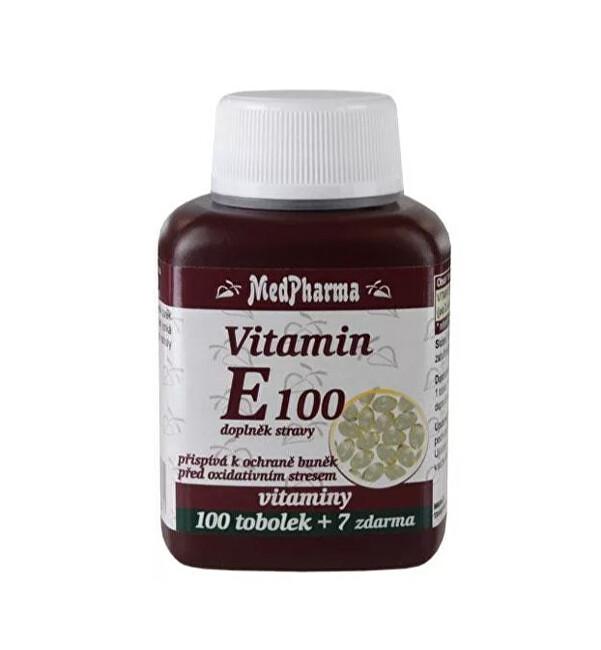 Vitamin E 100 mg - 100 tob. + 7 tob. ZDARMA