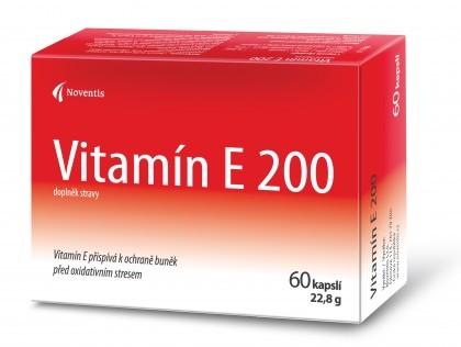 Vitamín E 200 60 kapslí