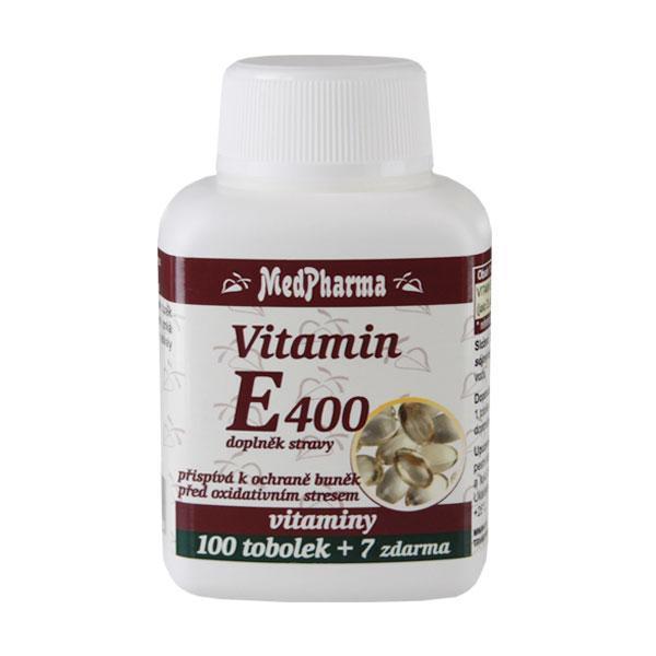 Zobrazit detail výrobku MedPharma Vitamín E 400 100 tob. + 7 tob. ZDARMA