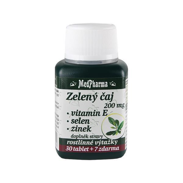 Zobrazit detail výrobku MedPharma Zelený čaj 200 mg + vitamín E + selen + zinek 30 tbl. + 7 tbl. ZDARMA