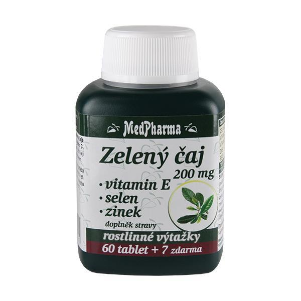 Zobrazit detail výrobku MedPharma Zelený čaj 200 mg + vitamín E + selen + zinek 60 tbl. + 7 tbl. ZDARMA