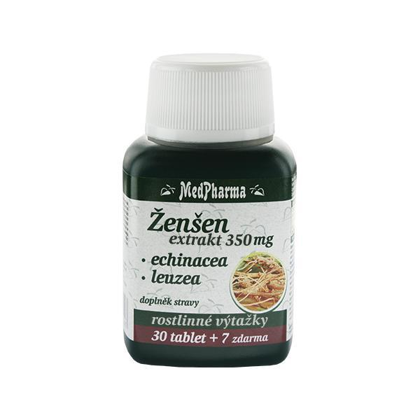 Zobrazit detail výrobku MedPharma Ženšen 350 mg + echinacea + leuzea 30 tbl. + 7 tbl. ZDARMA