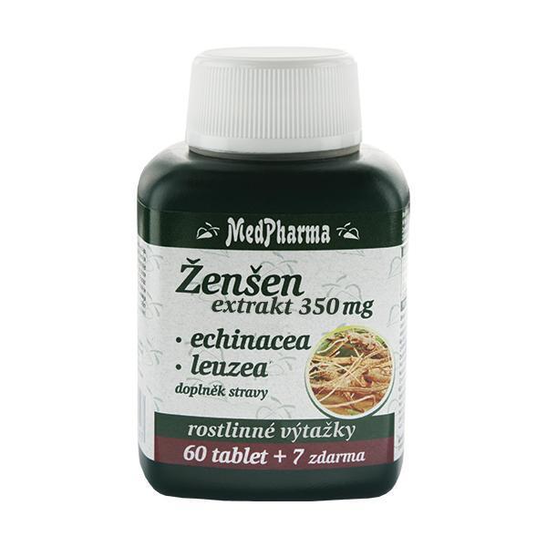Zobrazit detail výrobku MedPharma Ženšen extrakt 350 mg + echinacea + leuzea 67 tablet