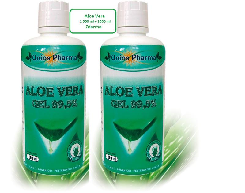Unios Pharma Aloe vera gel 99,5% 1 l + Aloe vera gel 99,5% 1 l ZDARMA