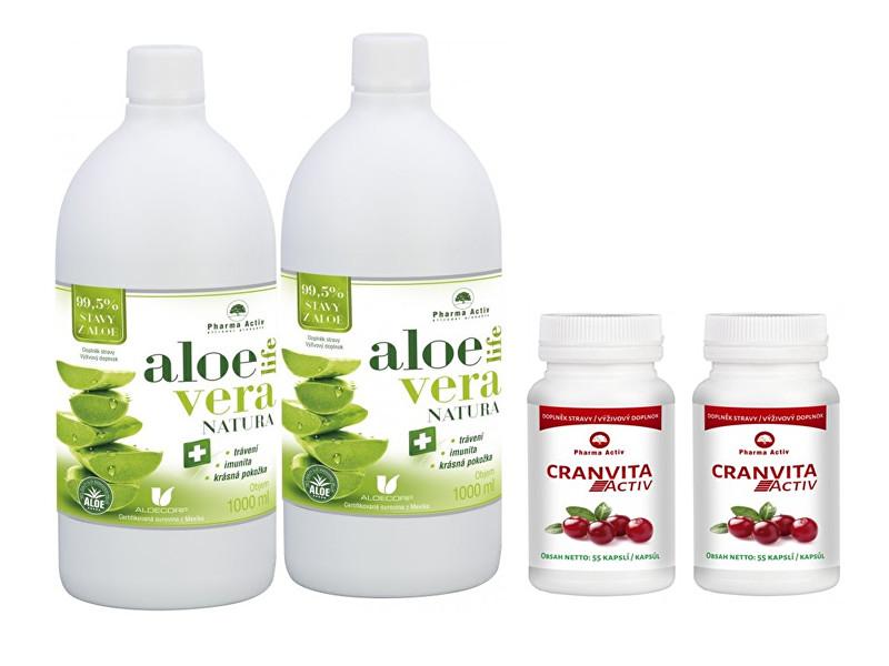 Zobrazit detail výrobku Pharma Activ AloeVeraLife 1+1 ZDARMA (1000 ml + 1000 ml) + 2 x Cranvita Activ 55 kapslí
