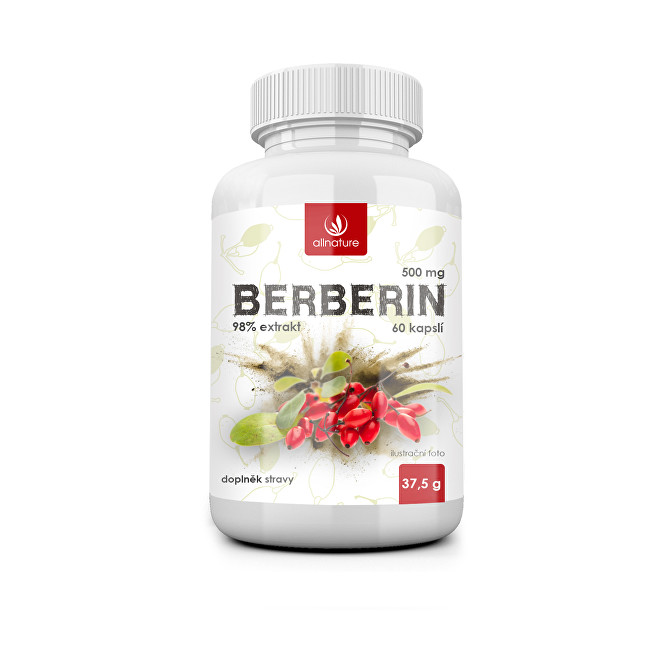 Zobrazit detail výrobku Allnature Berberin Extrakt 98 % 500 mg 60 kapslí