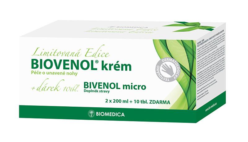 Zobrazit detail výrobku Biomedica Biovenol krém 2 x 200 ml + 10 tbl. ZDARMA