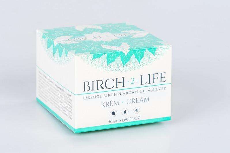 Birch 2 Life Březový krém se stříbrem a arganovým olejem 50 ml