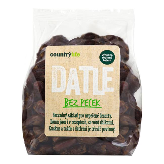 Zobrazit detail výrobku Country Life Datle sušené bez pecek 500 g