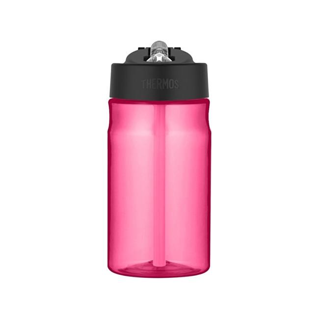 Dětská hydratační láhev s brčkem - růžová 350 ml