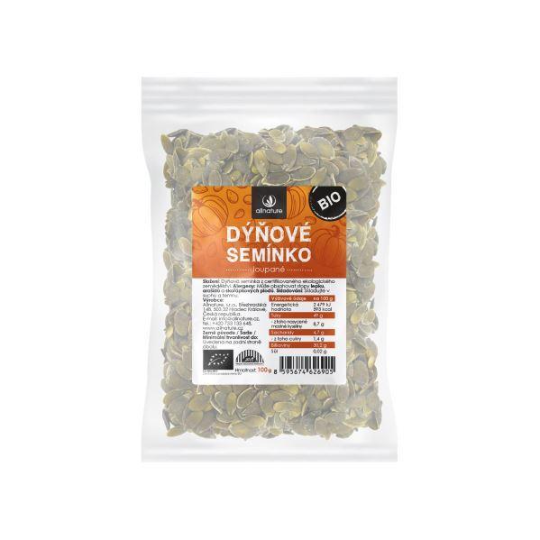 Allnature Dýňové semínko loupané BIO 100 g