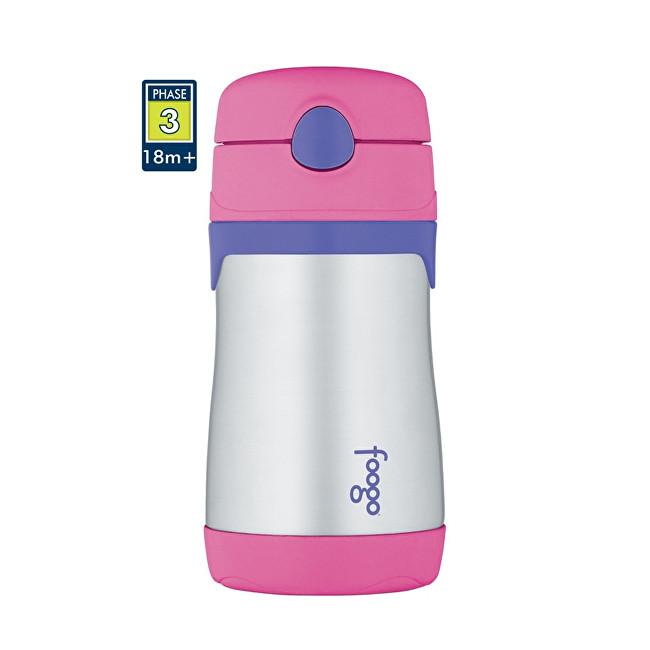Foogo kojenecká termoska - růžová 290 ml
