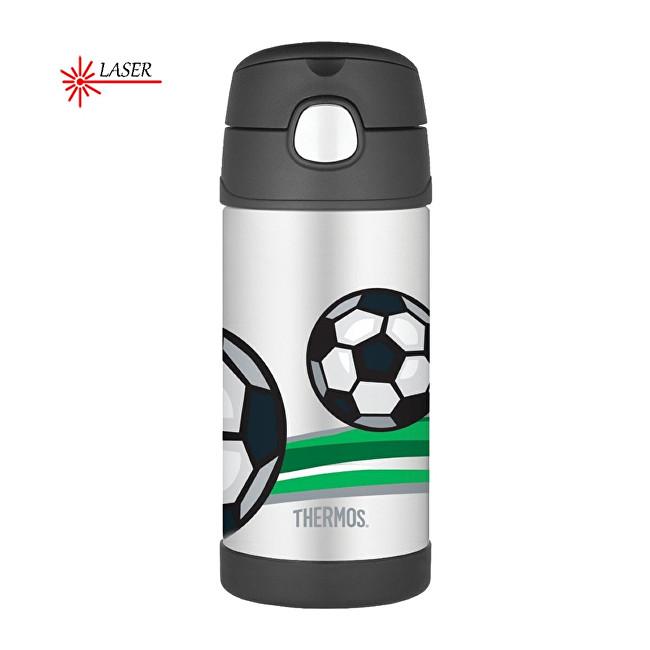 FUNtainer Dětská termoska s brčkem - fotbal 355 ml