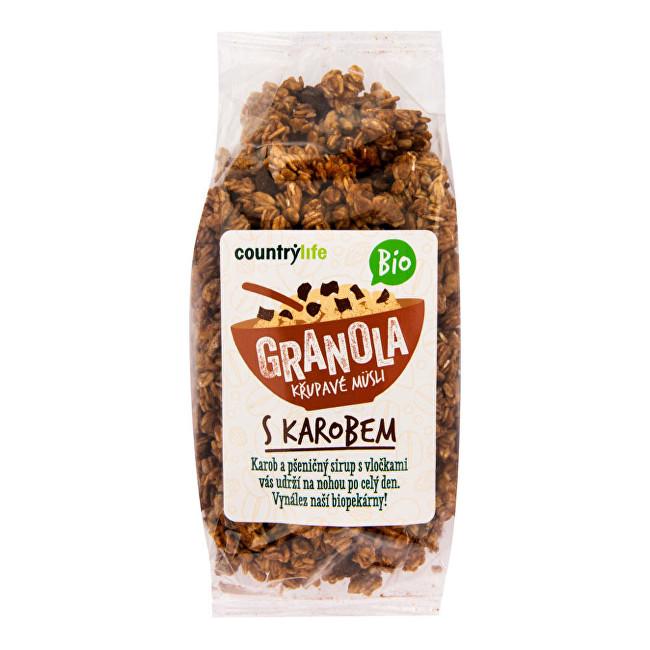 Country Life Granola - Křupavé müsli s karobem BIO 350g