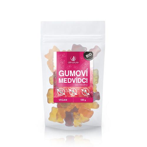 Zobrazit detail výrobku Allnature Gumoví medvídci bez obsahu želatiny BIO 100 g