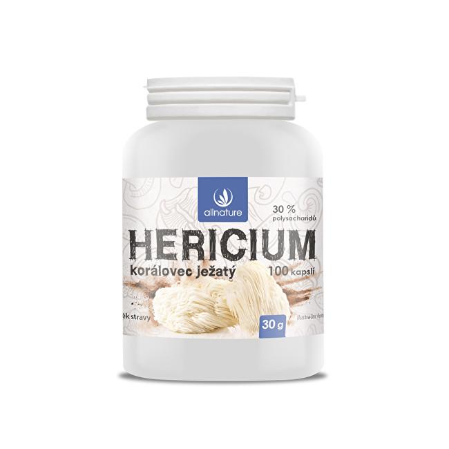 Zobrazit detail výrobku Allnature Hericium Korálovec ježatý 100 kapslí