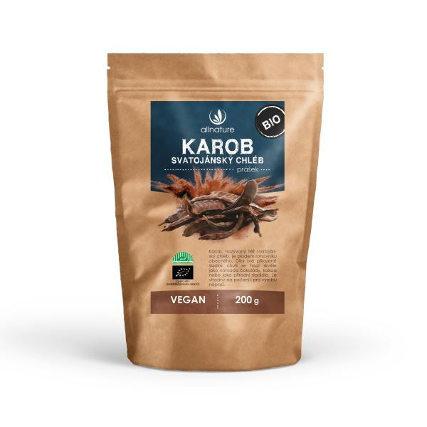 Allnature Karob - svatojánský chléb - prášek BIO 200 g