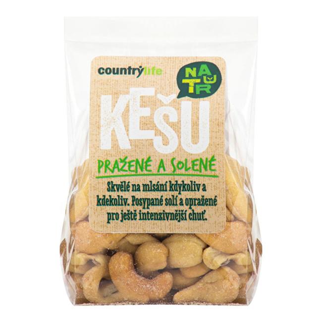 Country Life Kešu ořechy pražené solené 100g