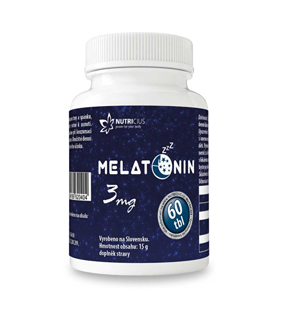 Nutricius Melatonin 3 mg 60 tbl.