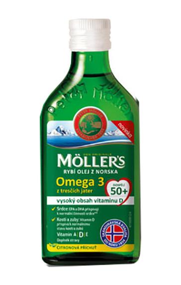 Möller`s rybí olej Omega 3 z tresčích jater pro dospělé 50+ 250 ml