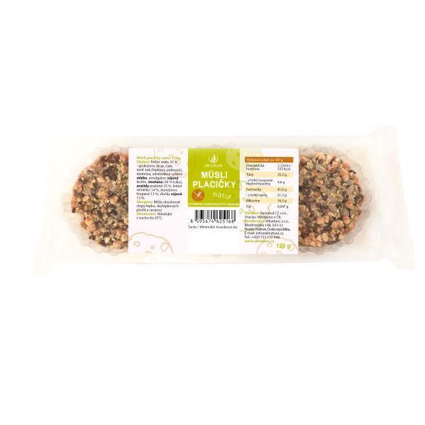 Zobrazit detail výrobku Allnature Müsli placičky Natur 120 g