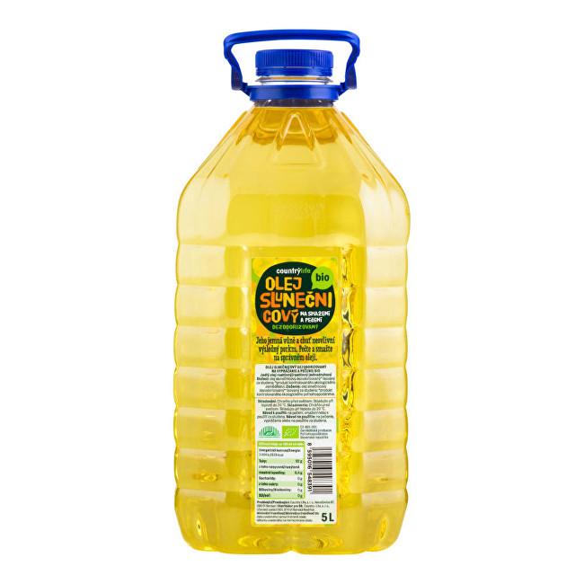 Country Life Olej slunečnicový dezodorizovaný na smažení a pečení BIO 5 litrů