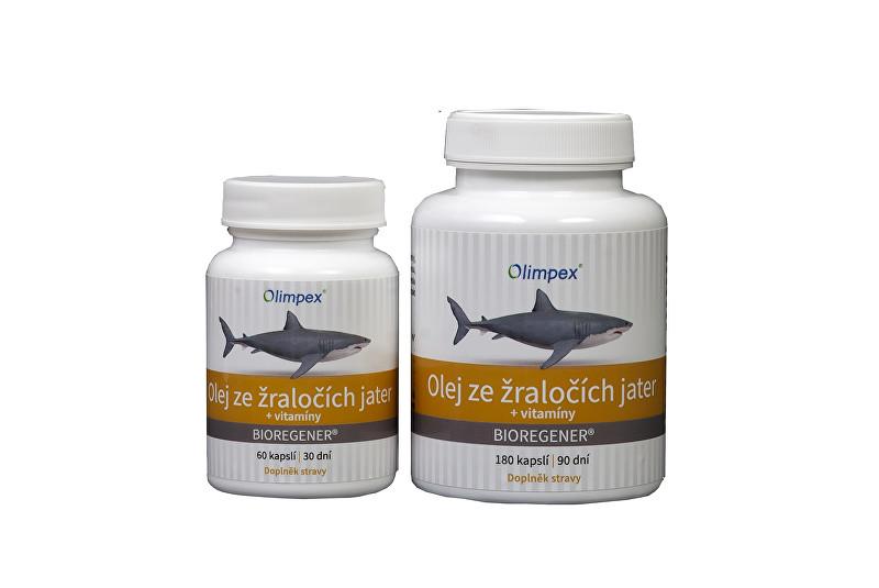 Olimpex s. r. o. Olej ze žraločích jater 180 kapslí + Olej ze žraločích jater 60 kapslí