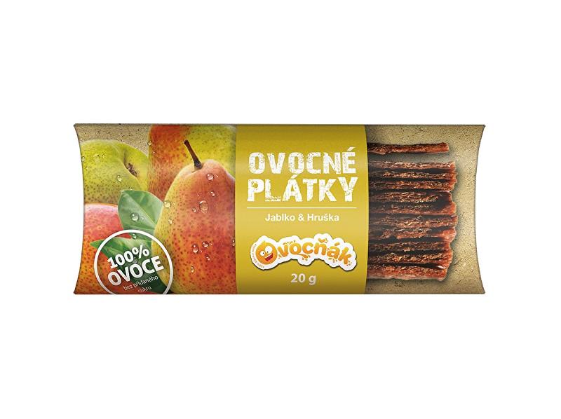 Ovocňák Ovocné plátky Jablko - hruška 20g