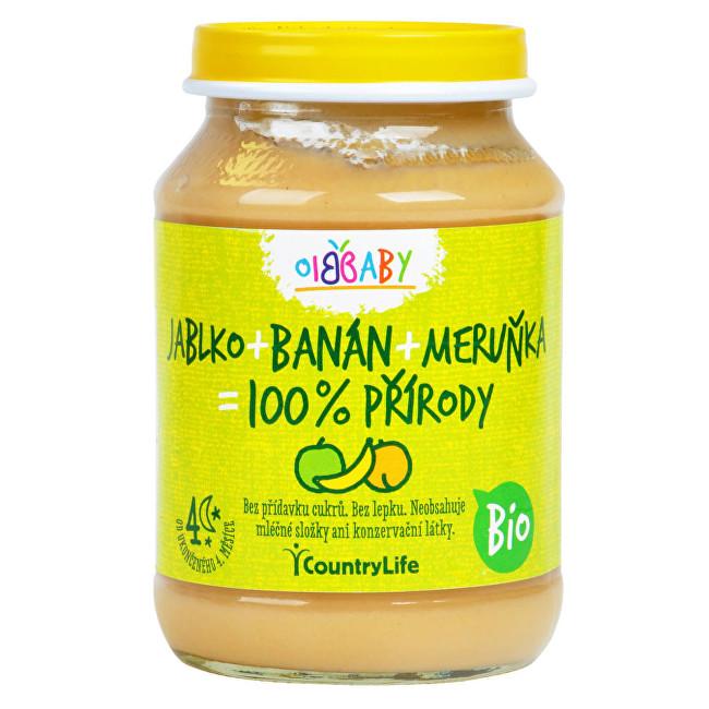 Zobrazit detail výrobku Country Life Příkrm jablko, banán, meruňka BIO 190g