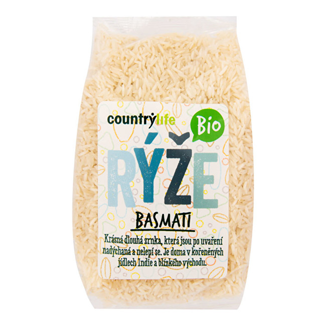 Country Life Rýže basmati BIO 0,5 kg