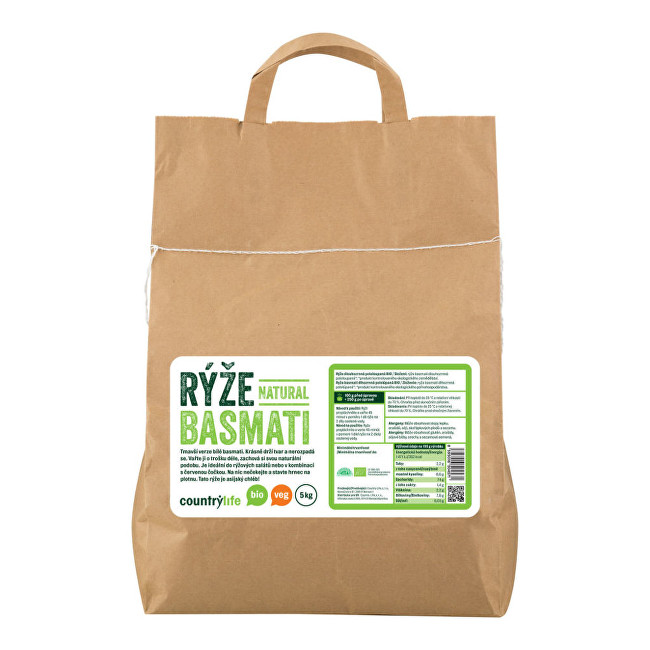 Zobrazit detail výrobku Country Life Rýže basmati natural BIO 5 kg