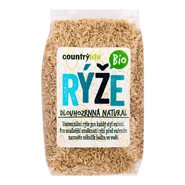 Country Life Ryža dlhozrnná natural BIO 0,5 kg