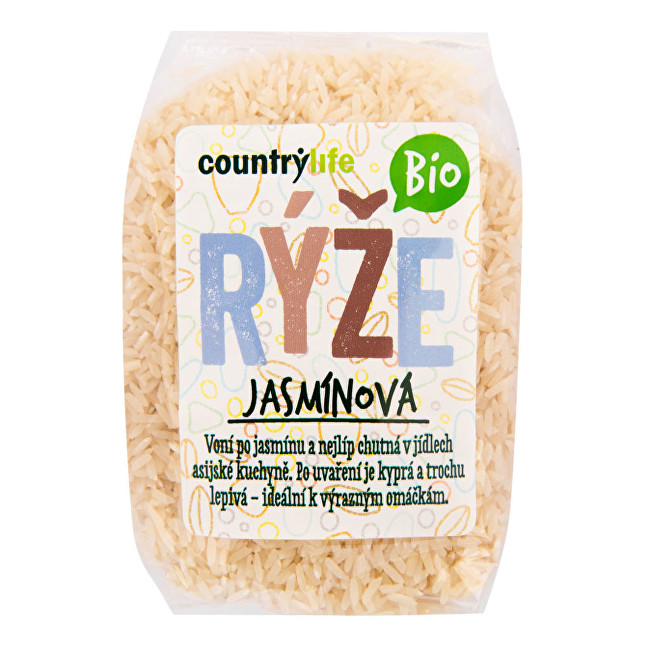 Zobrazit detail výrobku Country Life Rýže jasmínová BIO 0,5 kg