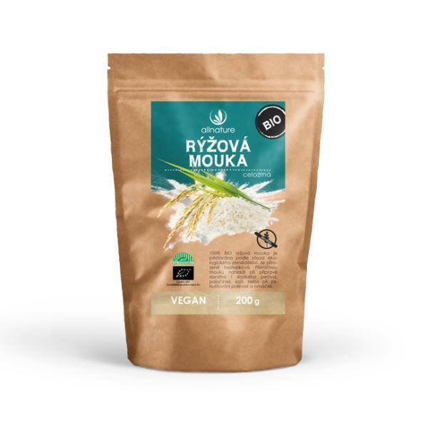 Zobrazit detail výrobku Allnature Rýžová mouka celozrnná bezlepková BIO 200 g