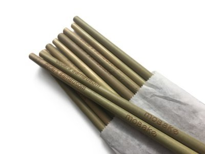 Mobake Sada nebalených bambusových brček (10 ks)