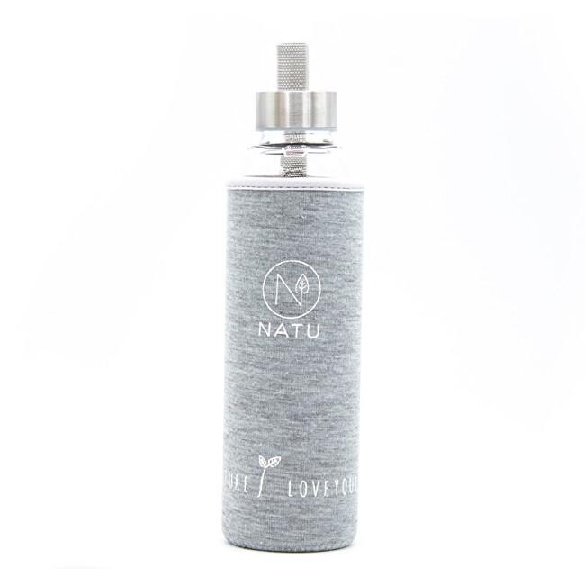 Skleněná láhev v šedém termo obalu 550 ml